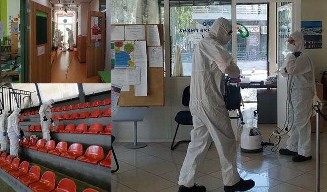 Προληπτική απολύμανση σε όλα τα σχολεία και τα δημοτικά κτίρια του Δήμου Βριλησσίων